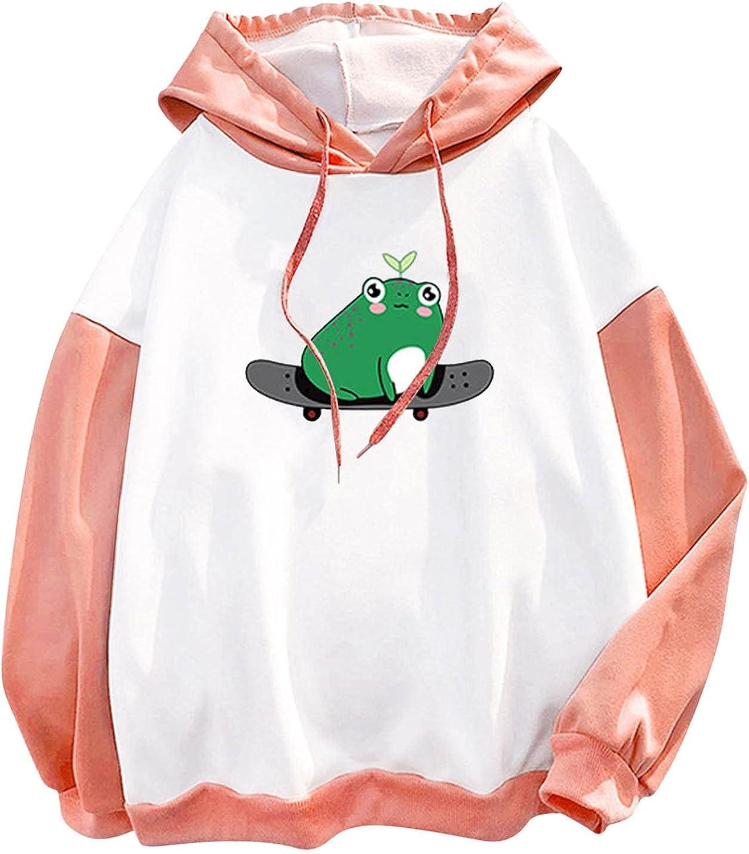 GUOBIOZIY Halloween Hoodie for Women,Women's Long Sleeve Round Neck Casual Pocket T-Shirt Blouse Sweatshirt Long Sleeve Top