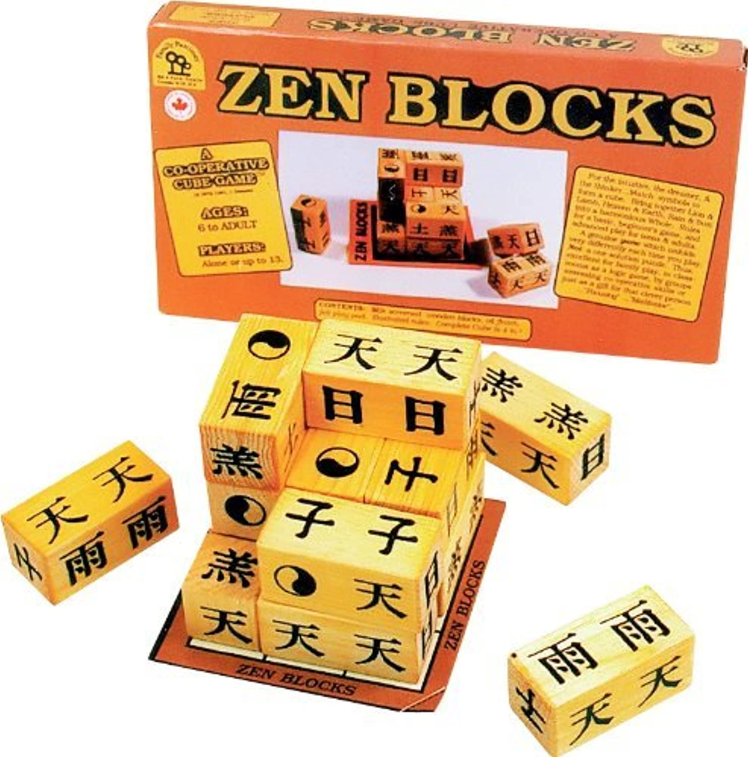 Family Pastimes Zen Blocks  A Cooperative Strategy Game by Family Pastimes