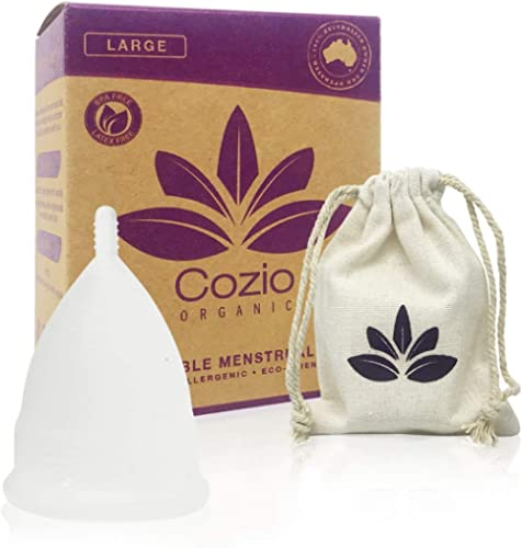 Cozio Menstrual Cup (Aussie Owned) - Soft and Flexible Moon Cup - Comfortable Fit - Wear for 12 Hours - BPA & Latex F...