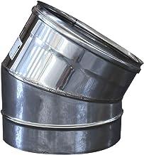 Gomito a 30° per canna fumaria in acciaio inox (DN 120)