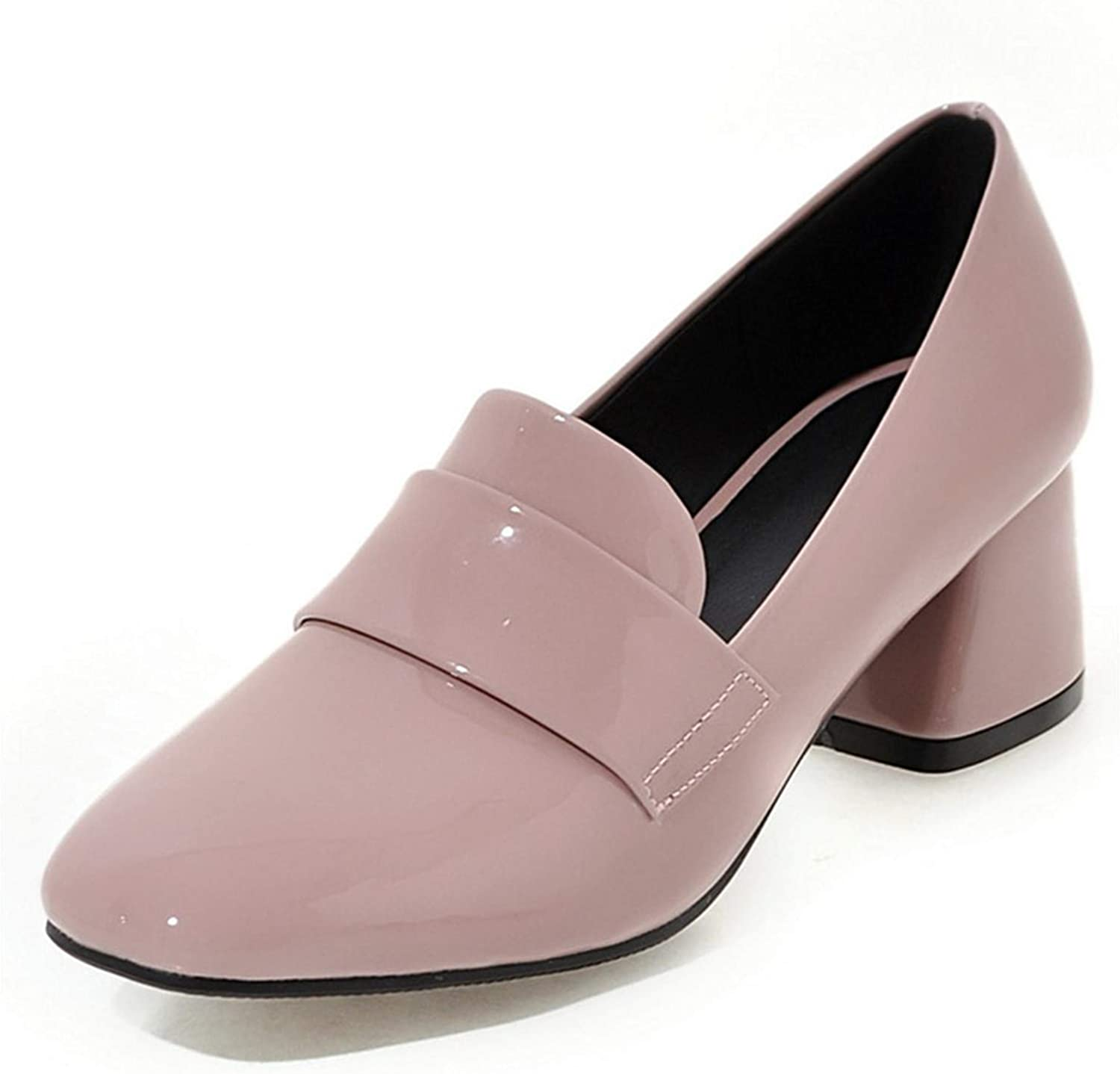 Kristing high Heels Women shoes Patent Leather Pumps Single shoes Work Office Lady Shallow Fashion