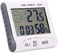 BoquiteCarnaval de San Valentín Higrómetro Digital Termómetro de Interior Termómetro electrónico LCD Probador de Temperatura Digital Termómetro inalámbrico Higrómetro Humedad