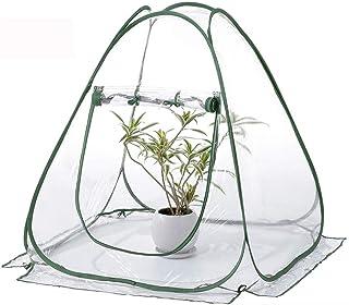GYFHMY Invernadero Cubierta de Maceta de jardín Exterior, pequeña, al Aire Libre, Cubierta, Planta protegida Tienda de campaña portátil para jardín, Refugio para Flores