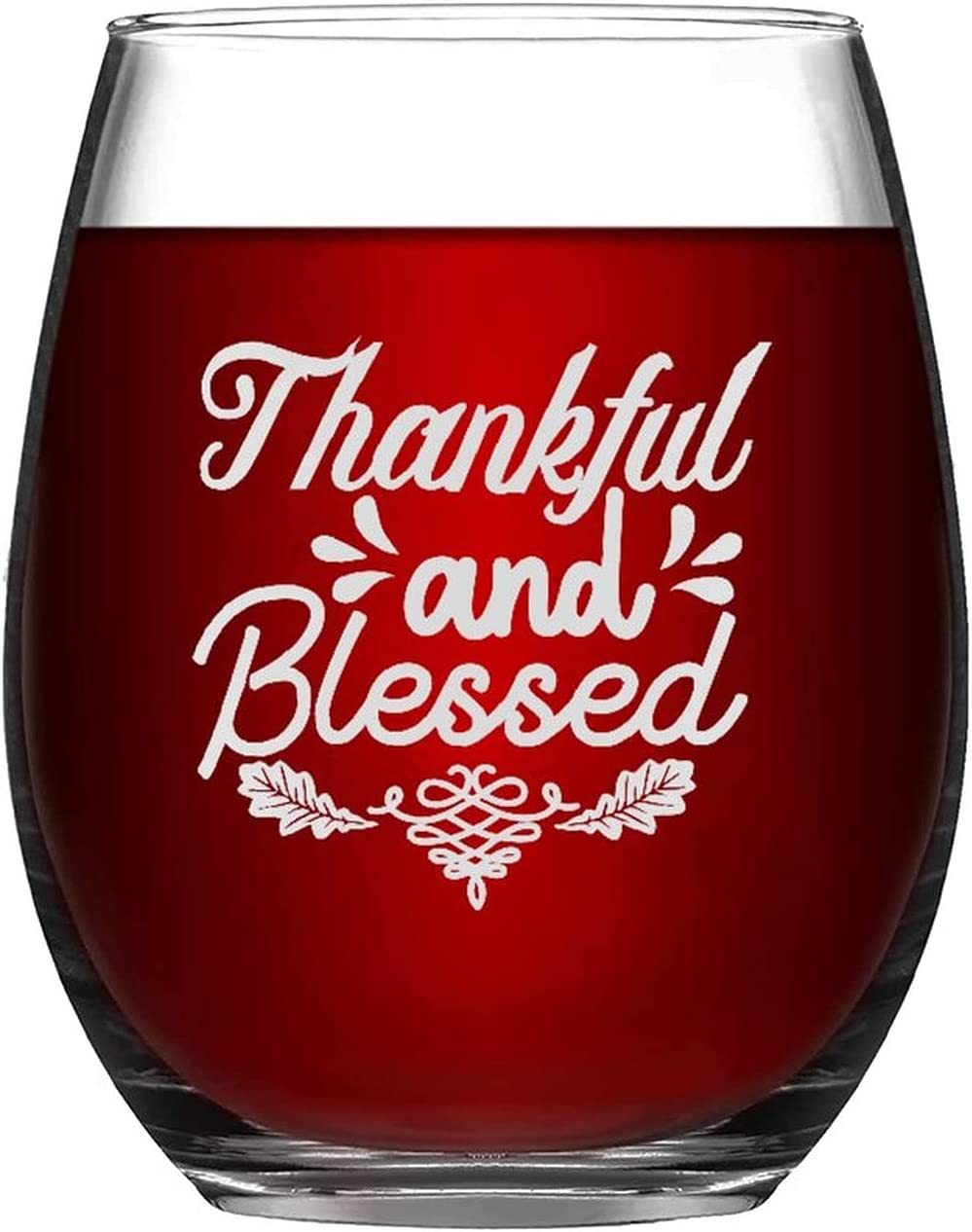 Stemless Wine Glasses Thankful And Engraved Glass Blessed Max A surprise price is realized 60% OFF Laser