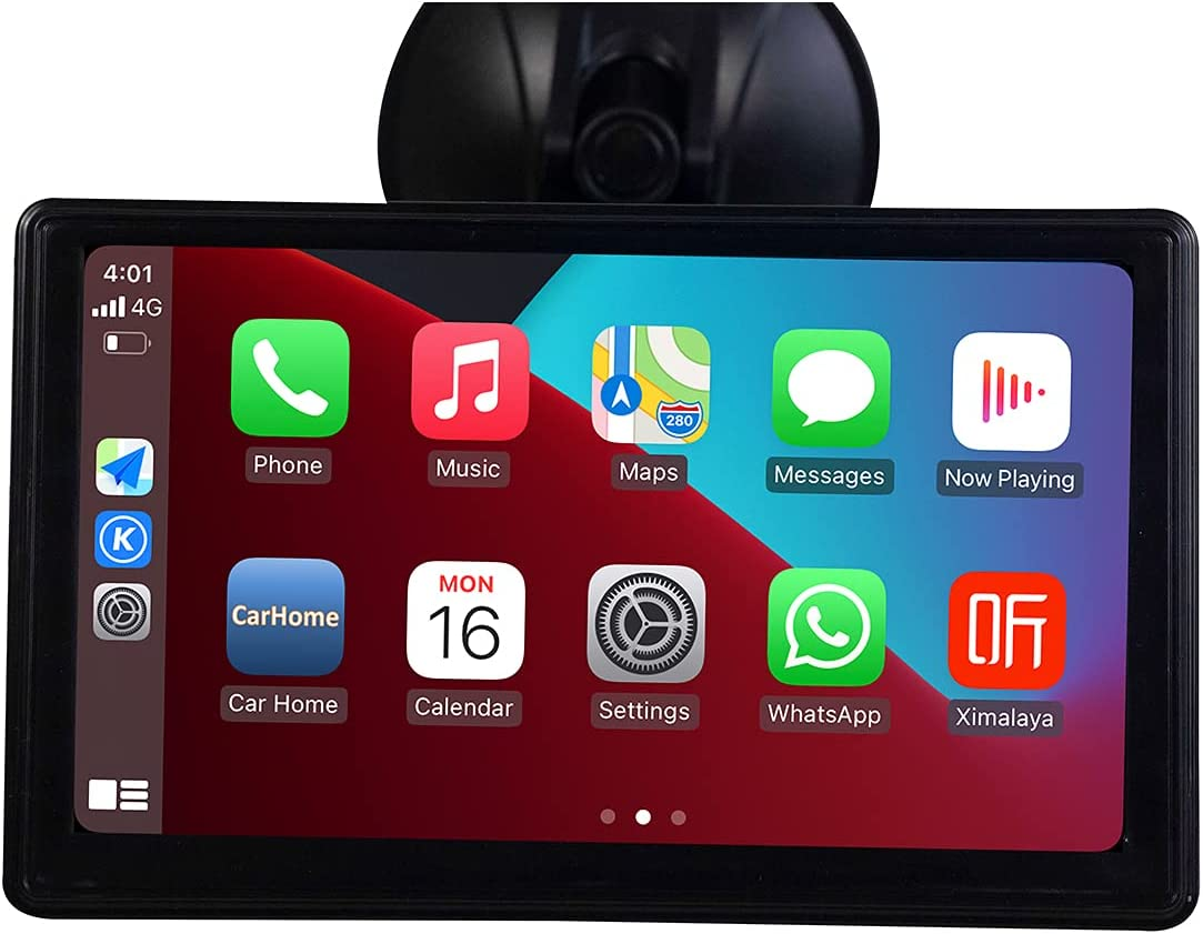 KOODEA Wireless with Apple Carplay Android AUTO Mirror Multimedia 7 Inch IPS Touchscreen Multimedia Player with Bluetooth, Mirror Link Siri Google and Siri Assistant (2021 Upgraded Wireless)
