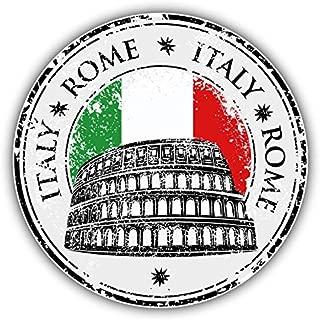 JJH Inc Rome City Italy Flag Grunge Travel Stamp Vinyl Decal Sticker Waterproof Car Decal Bumper Sticker 5