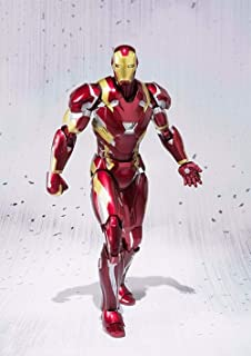 WAHE Anime Statue Bandai SHF Iron Man MK46 Hand Model Movable Doll Decoration Specifications About 16cm