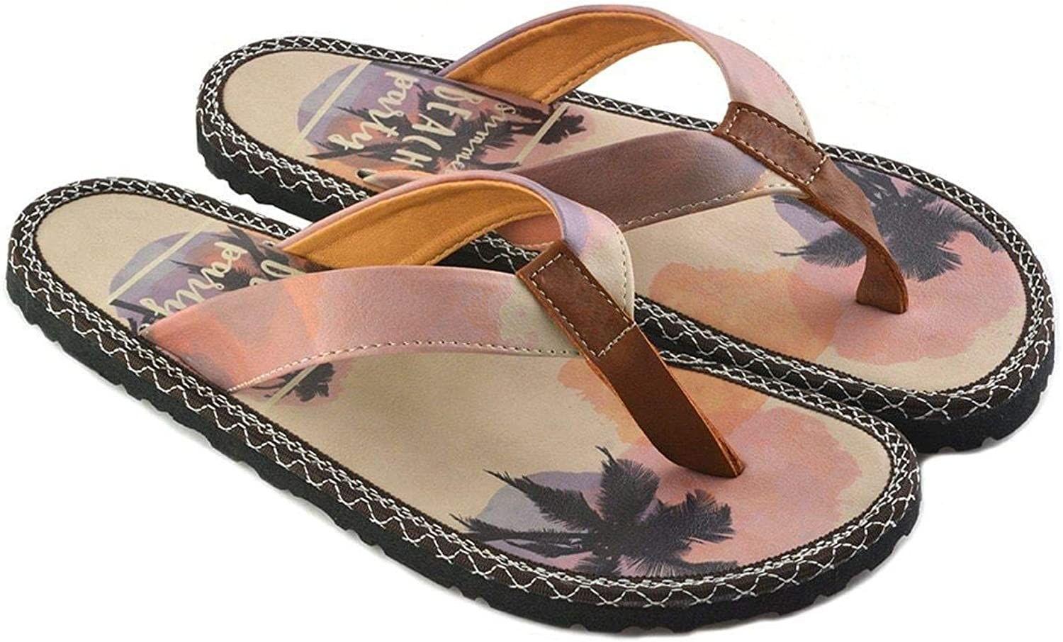 GOBY Women's shoes 'Beach Party Flip Flop Slippers 'CAL414'