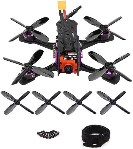 Dilwe RC Renn Quadcopter, Hoch Geschwindigkeit Kohlefaser 1205-7000KV Motor 4 in1 BLS 12A ESC RC Modell Fahrzeug Drohne(Mit Empfänger für FRSKY XM)