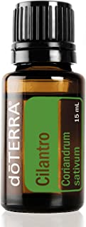 doTERRA - Cilantro Essential Oil - Supports Healthy Digestion, Powerful Cleanser and Detoxifier, Gives Food a Fresh and Tasty Flavor; for Diffusion or Topical Use - 15 mL