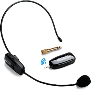 Wireless Headset Microphone, Jelly Comb 2.4G Wireless Mic Headset and Handheld 2 In 1 Rechargeable for Stage Speakers, Tour Guides, Conference, Teachers, etc.