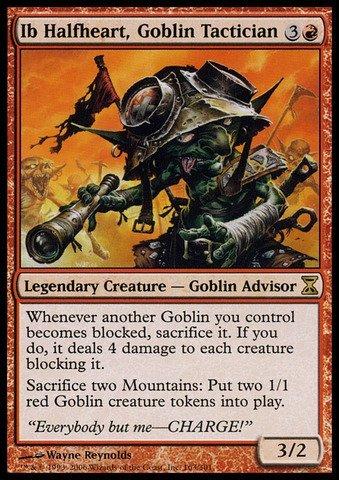 Magic The Gathering - Ib Halfheart, Goblin Tactician - Time Spiral