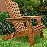 Sonnenstuhl Adirondack Akazienholz klappbar abgerundete Armlehnen Deckchair Liegestuhl Holzstuhl Gartenstuhl - 5