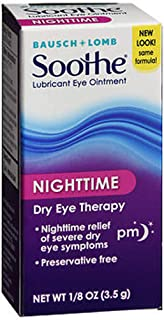 Bausch + Lomb Soothe Lubricant Eye Ointment Night Time - 0.13 oz, Pack of 3