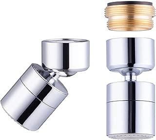Waternymph 1.2GPM Water Saving Bathroom Sink Aerator Solid Brass - Big Angle Swivel - Save Water - Save Money - Polished Chrome