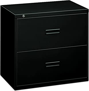 HON Filing Cabinet - 400 Series Two-Drawer Lateral File Cabinet, 30w x 19-1/4d x 28-3/8h, Black (434LP)