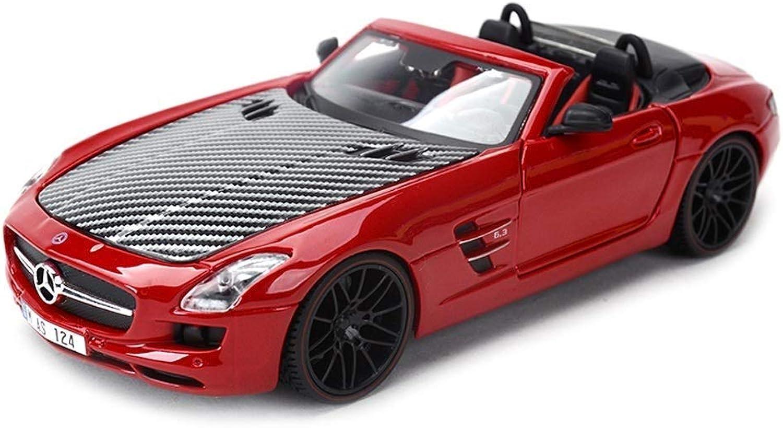 QRFDAIN Maisto car model simulation alloy car model 1 24 MercedesBenz SLS AMG GT sports car model car