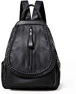GYYlucky Women's Backpack New Fashion PU Backpack Korean Version of The Design Solid Color Backpack
