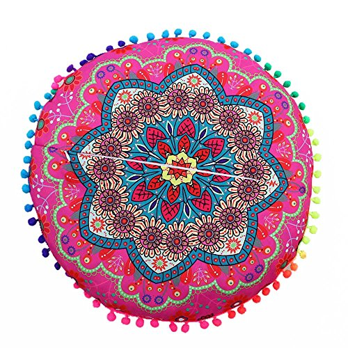 Pillow Cover  Indian Mandala Floor Pillows Round Bohemian Cushion Pillows Cover Case Cushions Home Decoration Pillow Case