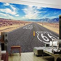 3D壁紙壁画青空高速道路背景壁画リビングルーム家の装飾写真壁紙-250x175cm