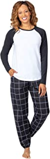 Christmas Pajamas for Women - Flannel PJs for Women, Raglan Top