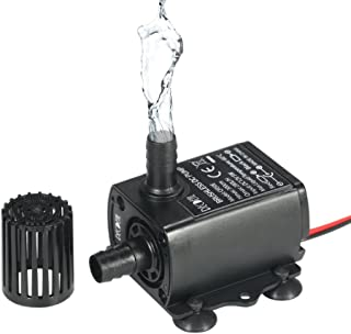 Decdeal Submersible Water Pump DC 12V 5W Ultra-Quiet Pump for Pond, Aquarium, 280L/H Lift 300cm