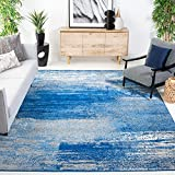 Safavieh Adirondack Collection ADR112F Modern Abstract Non-Shedding Stain Resistant Living Room Bedroom Area Rug, 8' x 10', Silver / Blue