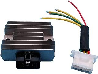 Tuzliufi Replace Voltage Regulator Rectifier Honda Small Engine HT3813 HT3810 H4013 HT4213 H4514H H4518H H5013 RT5000 Lawn Tractor 31600-890-951 31600- ZE2-861 6 Pins New Z200