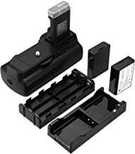 Powerextra Vertical Battery Grip + 2 × High Capacity 1600mAh LP-E10 Batteries + AA-Size Battery Holder with Infrared Remote Control for Canon EOS 1100D/1200D/1300D/T3/T5/T6 Digital SLR Camera
