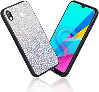 LittleBlack Huawei Y5 2019 Case Huawei Honor 8S Case, Compatible Huawei Y5 2019 / Honor 8S Glitter Case, Gradient Honeycomb Shape Series Magic case for Huawei Y5 2019 / Honor 8S Silver