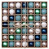 Valery Madelyn 49 Piezas Bolas de Navidad de 3cm, Adornos Navideños para Arbol,...