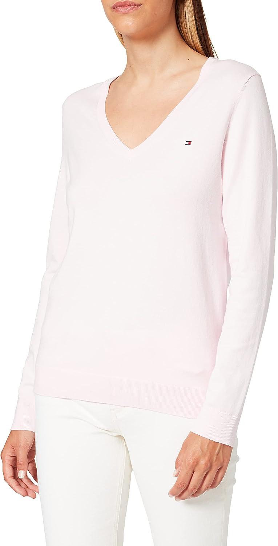 Tommy Hilfiger Women's Heritage V-nk Sweater Regular Fit Jumper
