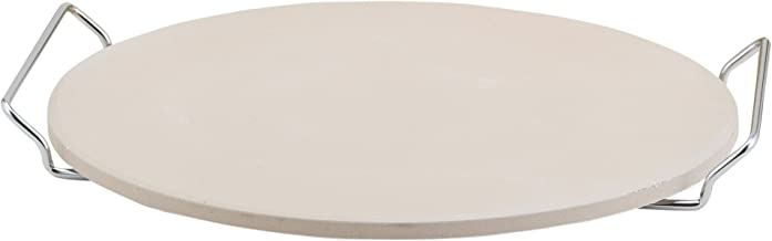HIC's Pizza Baking Stone with Serving Rack, Natural Ceramic Stoneware, 13-Inches Diameter