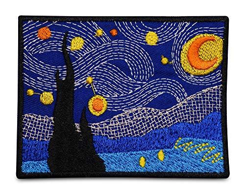 Finally Home Vincent Van Gogh Sternennacht Patch zum Aufbügeln   Patches, Bügelflicken, Flicken, Aufnäher