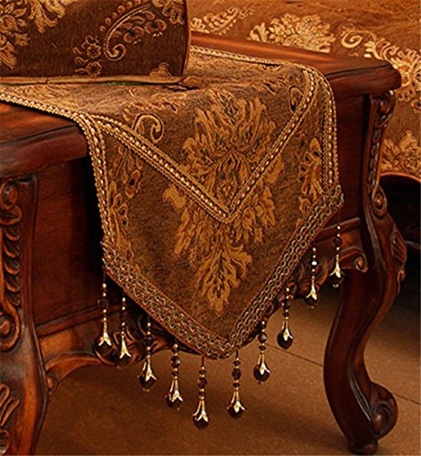Sucastle® 35x220cm Chenille Chemin de Table Cuisine Imperméable Décoration en Aspect naturel