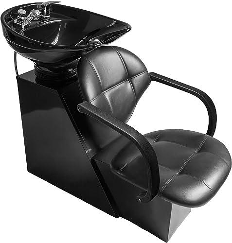 new arrival Shampoo Bowl Backwash Barber Chair W/Adjustable Ceramic Bowl Sink online W/Rubber Headrest for Salon popular Beauty Spa Equipment outlet sale