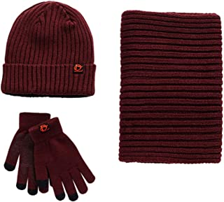 Red Llama Distressed Outdoor Winter Warm Knit Beanie Hat Cap for Men Women