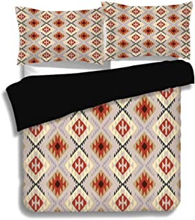 SINOVAL Black Full Size,Native American,First Nations Indian Motifs in Traditional Tribal Pattern Ethnic Art,Multi, 3 Pcs ...