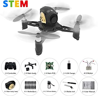 REMOKING R605 RC STEM DIY Drone Toys Mini Racing Quadcopter Headless Mode 2.4GHz 360°flip 4 Channels Altitude Hold Indoor and Outdoor Game Educational Building Toy Science Kit for Kids and Adults