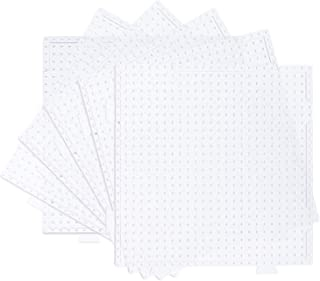 PH PandaHall 20 Pcs 2.5mm Square Fuse Beads Boards Clear Plastic Perler Bead Pegboards for Kids Craft Beads
