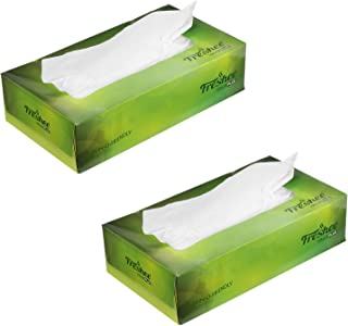 Freshee 100 Sheets 2 Ply Car Tissue Paper Box Pack Of 2, Extra Soft Hygienic Fresh Natural Skin Friendly Water Dissolvable...