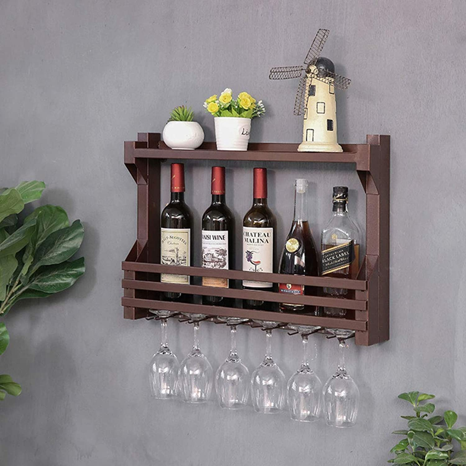 Red Wine Shelf Modern Minimalist Restaurant Hanging Wine Rack Wine Cabinet Living Room Wall Decorative Creative Wall Hanging Wine Rack Wine Cabinets (color   C, Size   60CM)