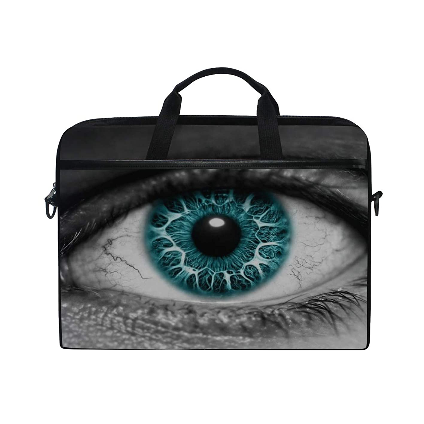 Rh Studio Laptop Bag Eye Lens Pupil Eyelashes Laptop Shoulder Messenger Bag Case Sleeve for 14 Inch to 15.6 Inch with Adjustable Notebook Shoulder Strap bwtvgpbgluc610
