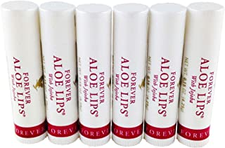 FOREVER LIVING Aloe Lips Balm (6) - Soothe, Moisturize, Heal & Protect Lips 4.25g each