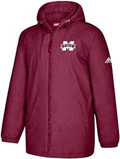 Mississippi State Bulldogs NCAA Men's Primary Logo Maroon Game Built Full Zip Heavyweight Jacket