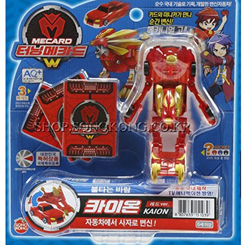 Turning mecards KAION Red_ New W Transformer Robot to Car Korean Toy by Sonokong