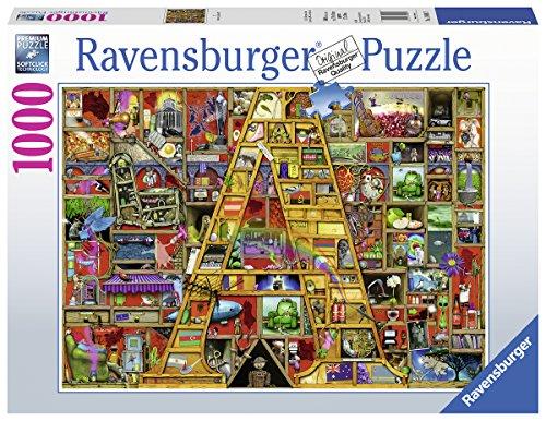 Ravensburger Puzzle 19891 - Awsome Alphabet A - 1000 Teile Puzzle für Erwachsene und Kinder ab 14 Jahren, Motiv von Colin Thompson