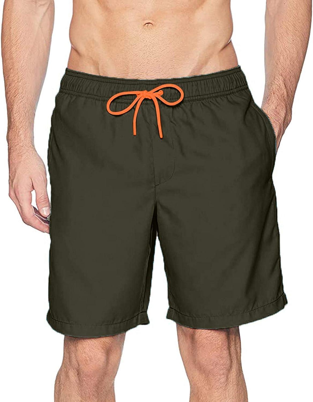 Sopzxclim Men's Big and Tall Swim Shorts Quick Dry Swim Trunks Beach Board Shorts Surfing Swimsuits Shorts Swimwear