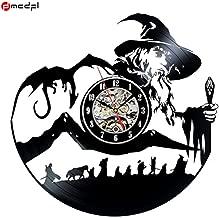 ZKMQF HotLord of The Rings Theme 12 Pulgadas Hecho a Mano 3D Vinyl Wall Clock Magic Sticker Decoración del hogar