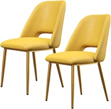 2 szt. Flanelowe krzesła do jadalni bez podłokietników krzesła tapicerowane z miękkimi wyściełanymi i kute żelazne nogi ta...